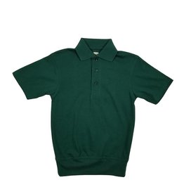 School Apparel, Inc. SHORT SLEEVE BANDED BOTTOM POLO GREEN