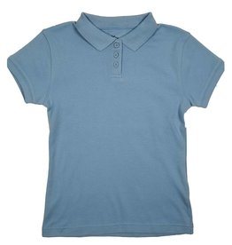 Classroom Uniforms CLASSROOM GIRLS/LADIES SHORT SLEEVE POLO LT BLUE