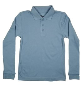 Classroom Uniforms CLASSROOM LONG SLEEVE POLO LT BLUE