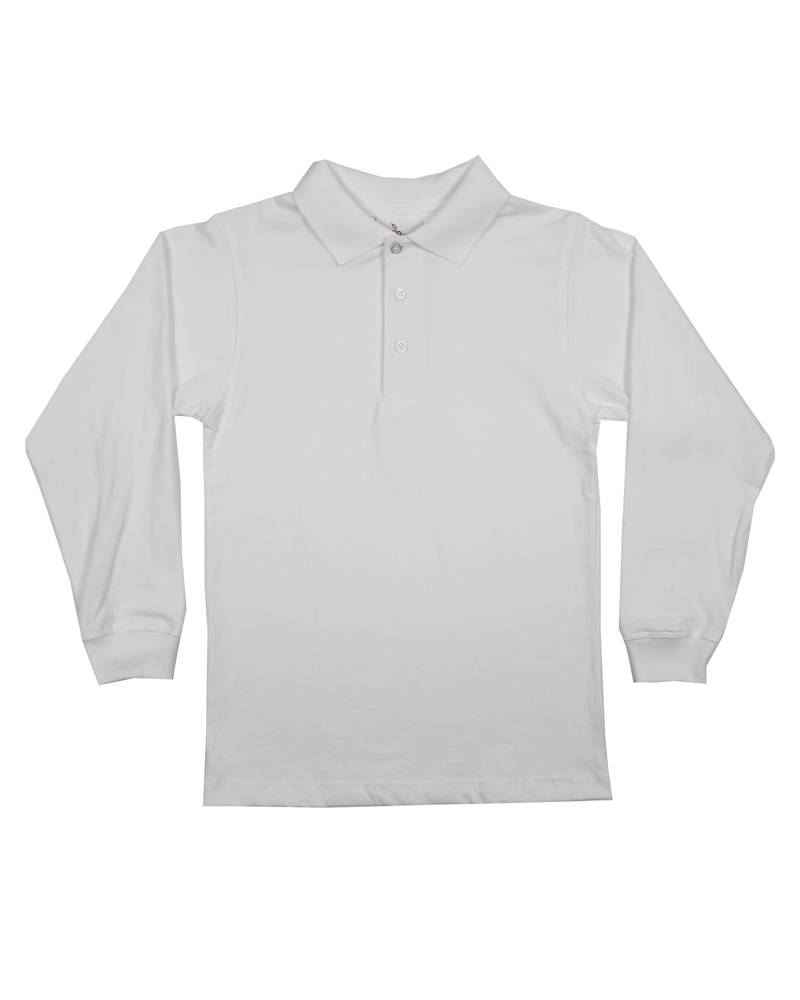 Elder Manufacturing Co. Inc. LONG SLEEVE JERSEY KNIT SHIRT WHITE