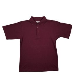 Elder Manufacturing Co. Inc. SHORT SLEEVE PIQUE KNIT SHIRT MAROON