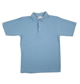 Elder Manufacturing Co. Inc. SHORT SLEEVE PIQUE KNIT SHIRT BLUE