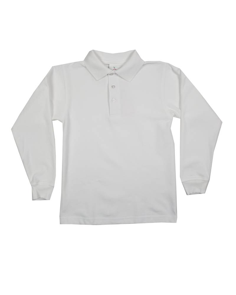 Elder Manufacturing Co. Inc. LONG SLEEVE PIQUE KNIT SHIRT WHITE