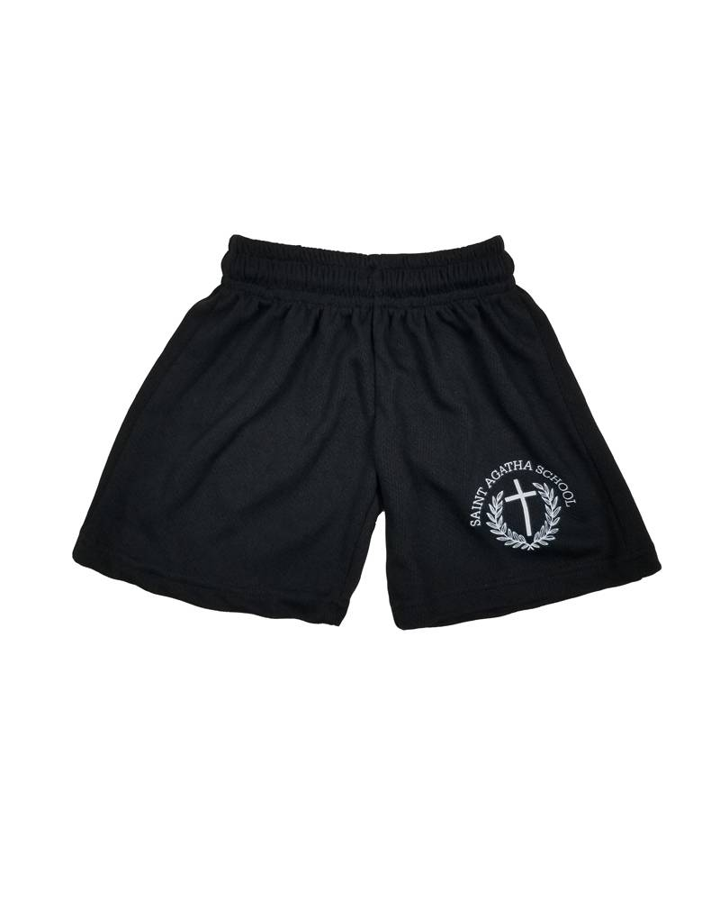 POWELL PRINT ST. AGATHA MESH GYM SHORTS