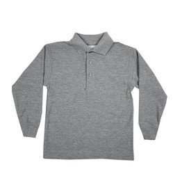 Elder Manufacturing Co. Inc. LONG SLEEVE PIQUE KNIT SHIRT GREY