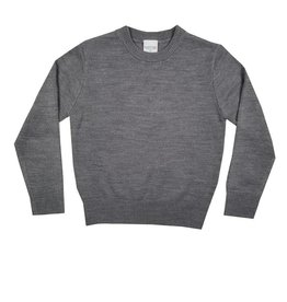 School Apparel, Inc. CREW NECK PULLOVER SWEATER GREY