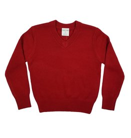 Elder Manufacturing Co. Inc. V/NECK PULLOVER SWEATER RED