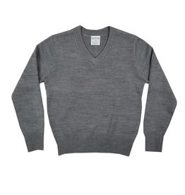 Elder Manufacturing Co. Inc. V/NECK PULLOVER SWEATER GREY