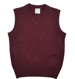 Elder Manufacturing Co. Inc. V/NECK SWEATER VEST MAROON