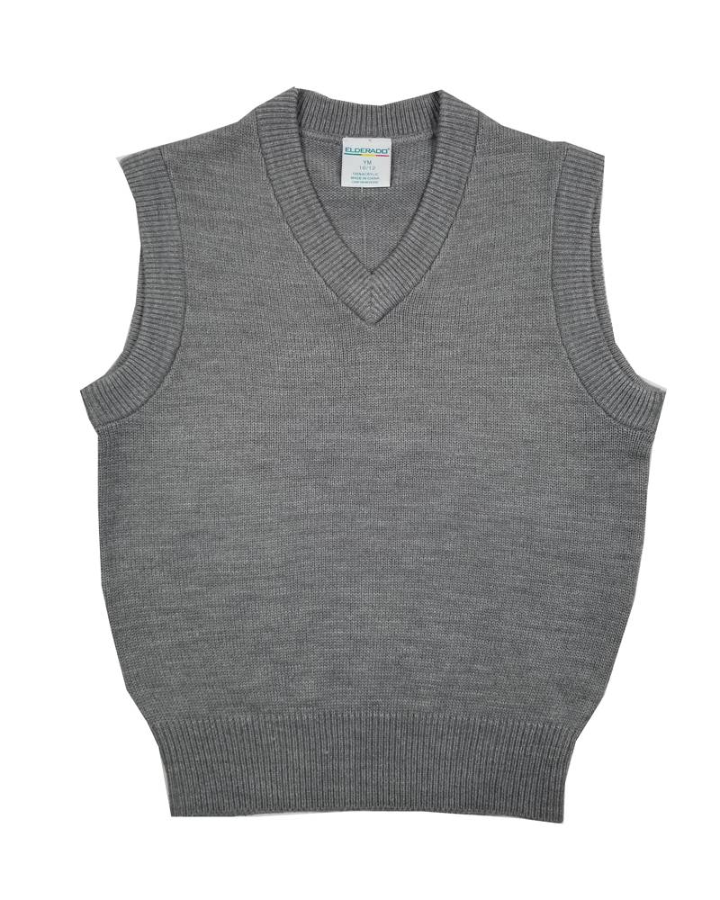 Elder Manufacturing Co. Inc. V/NECK SWEATER VEST GREY