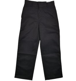 Elder Manufacturing Co. Inc. BOY/MENS FLAT FRONT PANTS BLACK