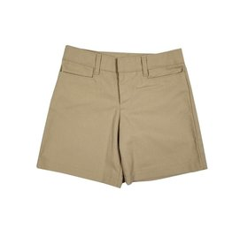 Elder Manufacturing Co. Inc. GIRLS FLAT FRONT SHORT KHAKI