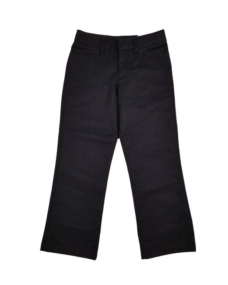 Elder Manufacturing Co. Inc. GIRLS/LADIES FLAT FRONT PANTS BLACK
