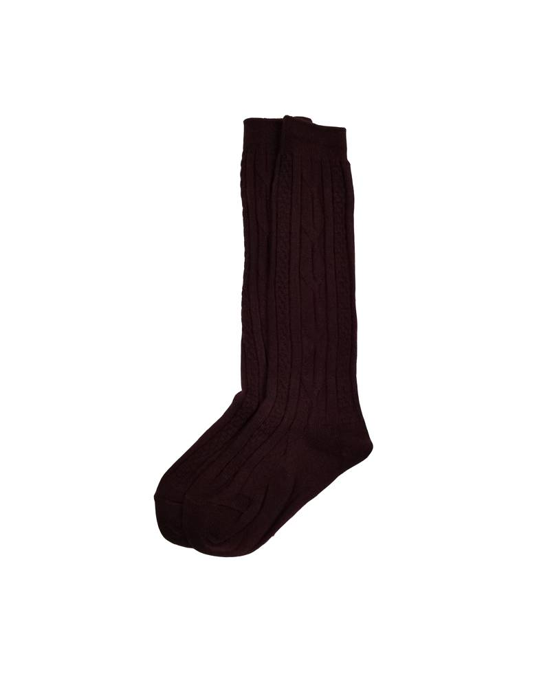 PREMIUM CABLE KNEE-HI MAROON
