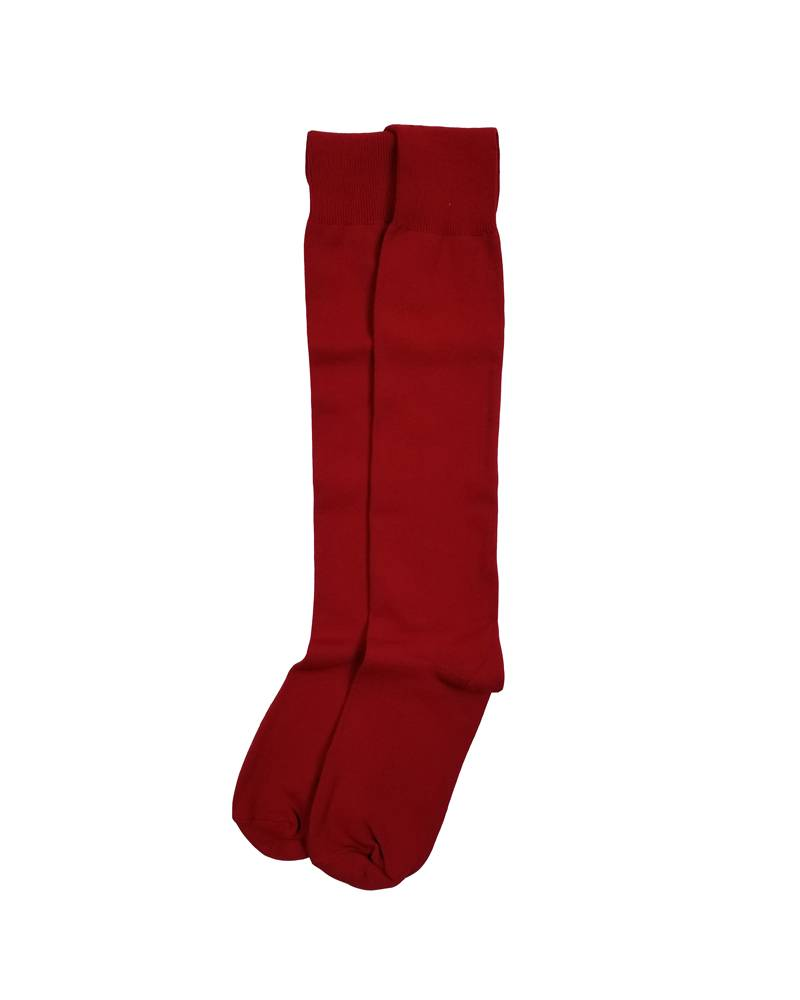OPAQUE KNEE-HI SOCKS RED