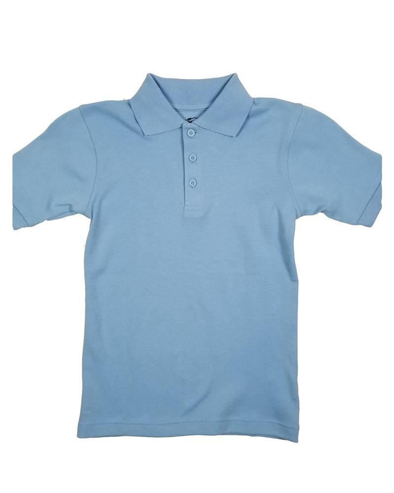 Classroom Uniforms CLASSROOM SHORT SLEEVE POLO LT BLUE B