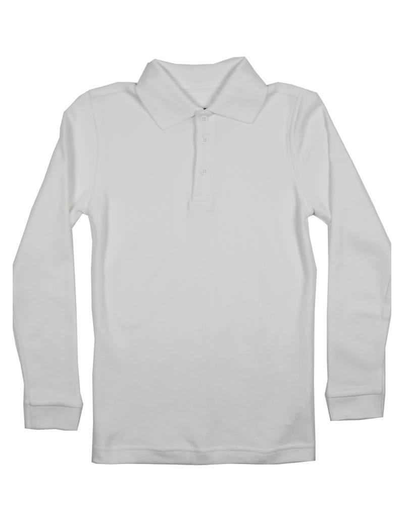 Classroom Uniforms CLASSROOM LONG SLEEVE POLO WHITE B
