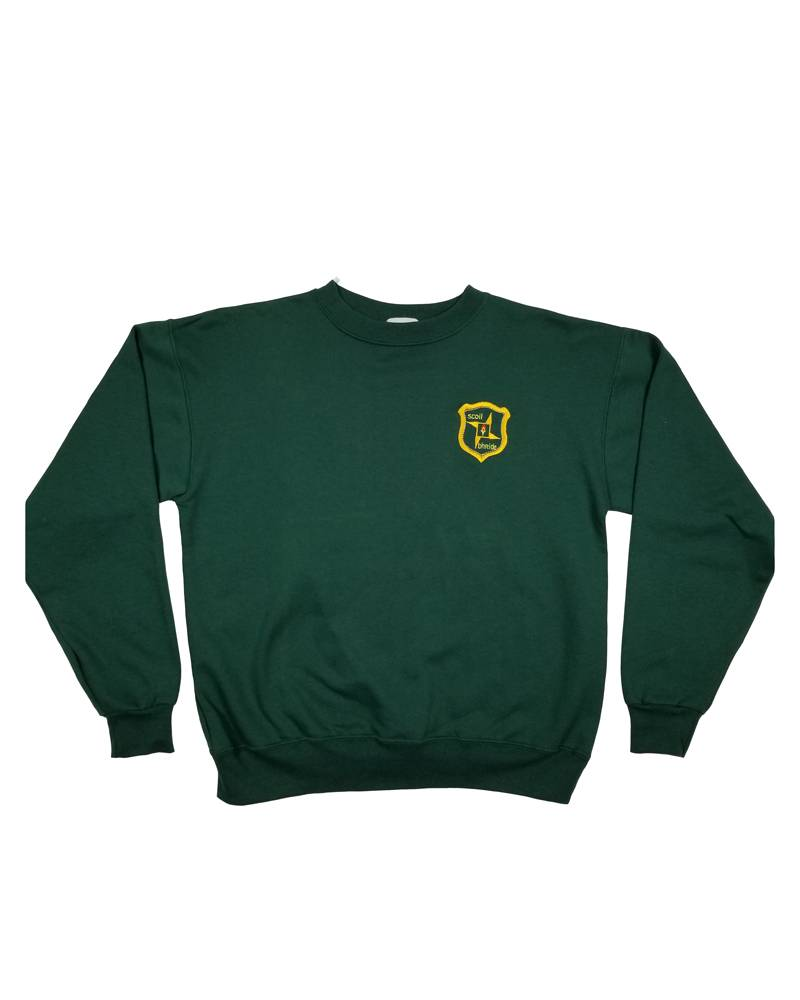 School Apparel, Inc. ST. BRIGID CREW NECK PULLOVER SWEATER GREEN