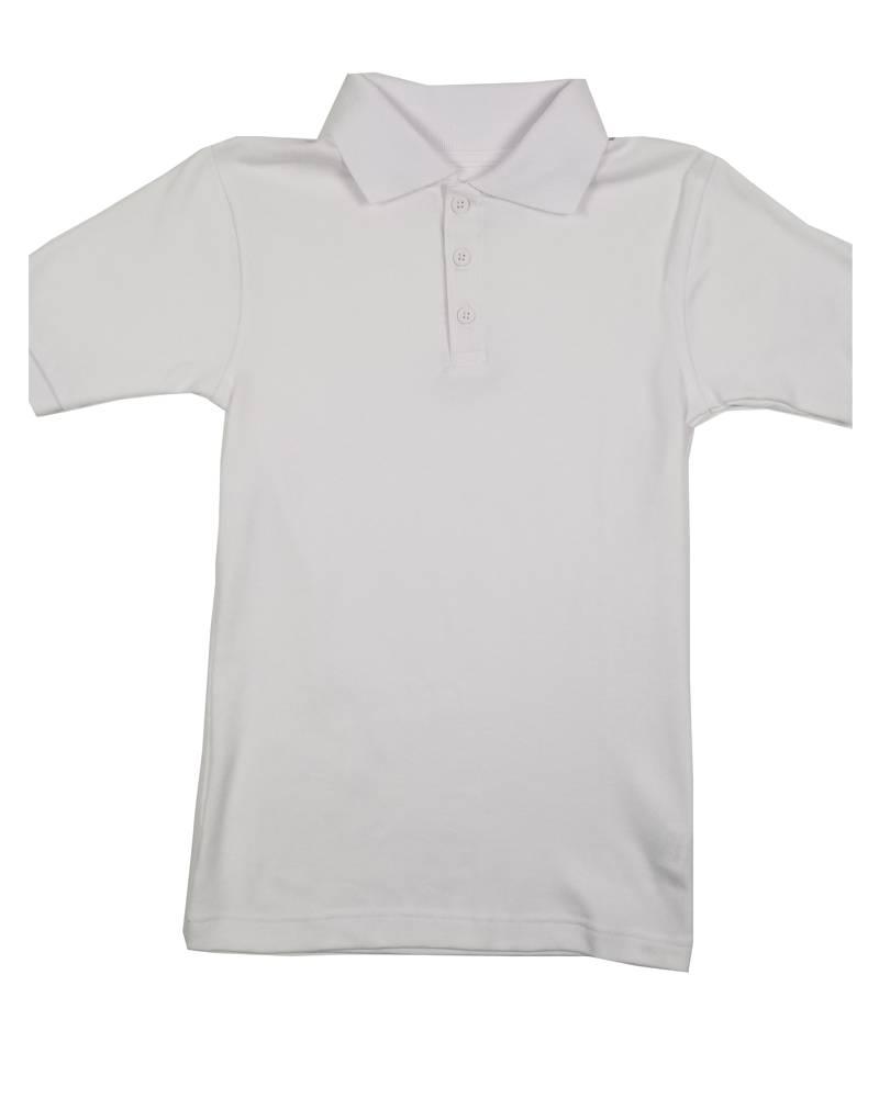 Classroom Uniforms CLASSROOM SHORT SLEEVE POLO WHITE B