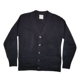 Elder Manufacturing Co. Inc. V-NECK CARDIGAN W/ POCKET NAVY D