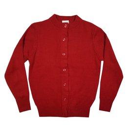 Elder Manufacturing Co. Inc. GIRLS CARDIGAN RED B