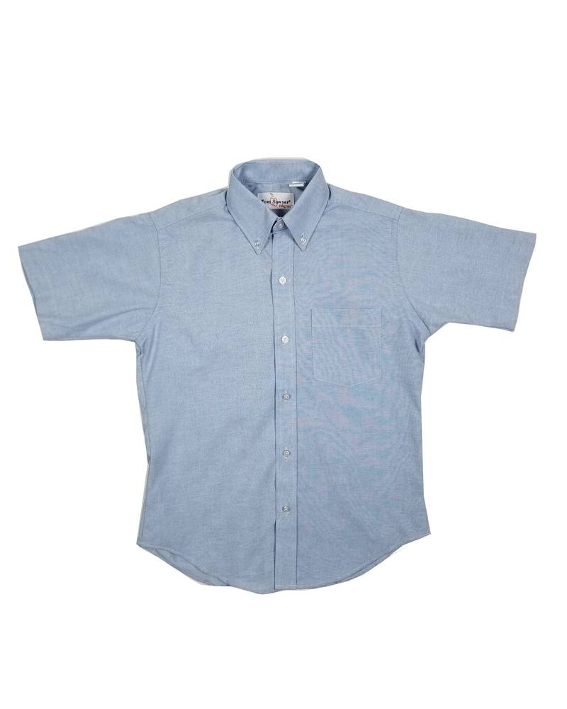 Elder Manufacturing Co. Inc. Boys/Mens SS Blue Oxfords 3