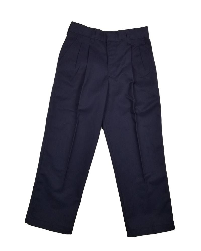 Elder Manufacturing Co. Inc. BOY/MENS PLEATED PANTS NAVY 4