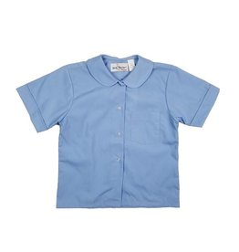 Elder Manufacturing Co. Inc. GIRLS/LADIES SS LT BLUE ROUND COLLAR BLOUSE 3