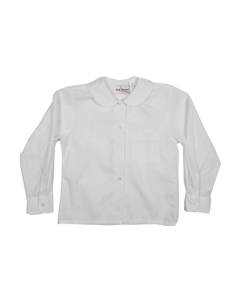 Elder Manufacturing Co. Inc. GIRLS/LADIES LS WHITE ROUND COLLAR BLOUSE 3