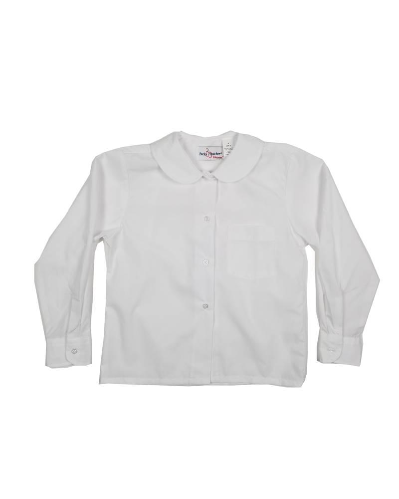 Elder Manufacturing Co. Inc. GIRLS/LADIES LS WHITE ROUND COLLAR BLOUSE 4