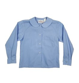 Elder Manufacturing Co. Inc. GIRLS/LADIES LS LT BLUE ROUND COLLAR BLOUSE 3