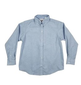 Elder Manufacturing Co. Inc. GIRLS/LADIES LS LT BLUE OXFORD BLOUSE 3
