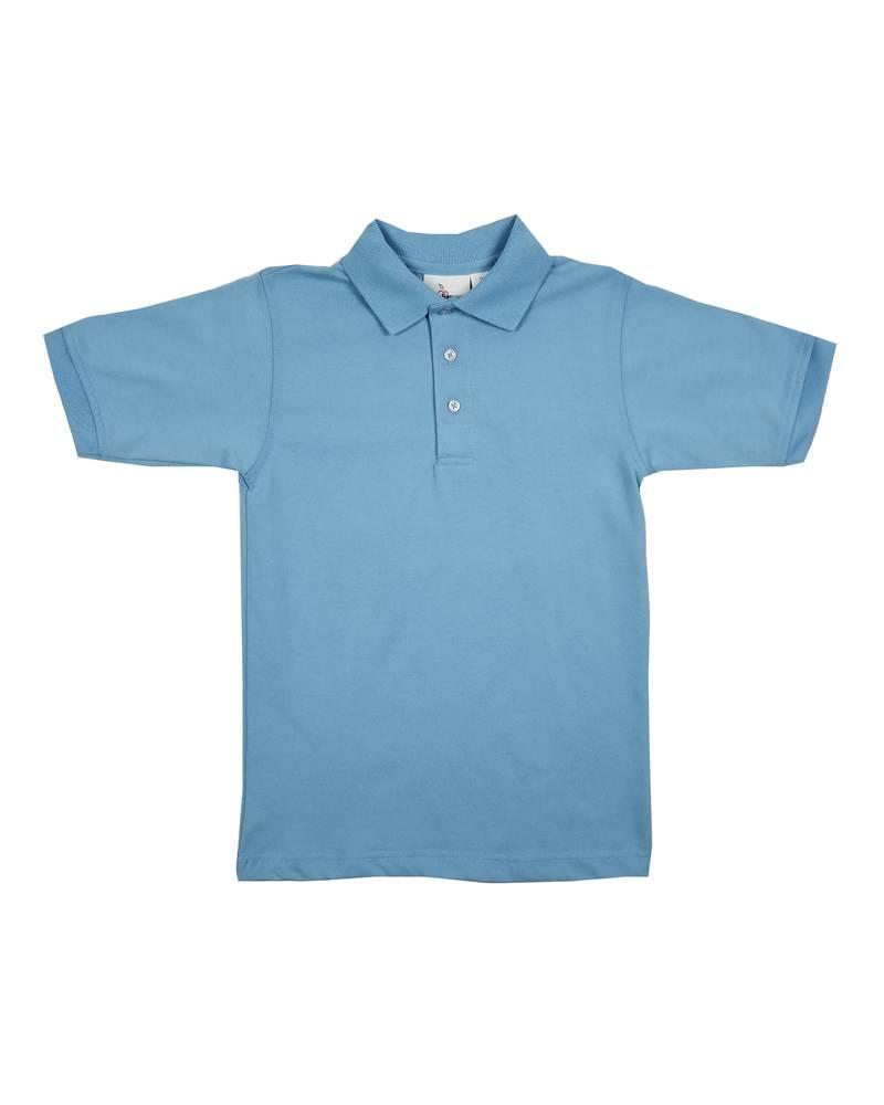 Elder Manufacturing Co. Inc. SHORT SLEEVE JERSEY KNIT SHIRT LT BLUE B