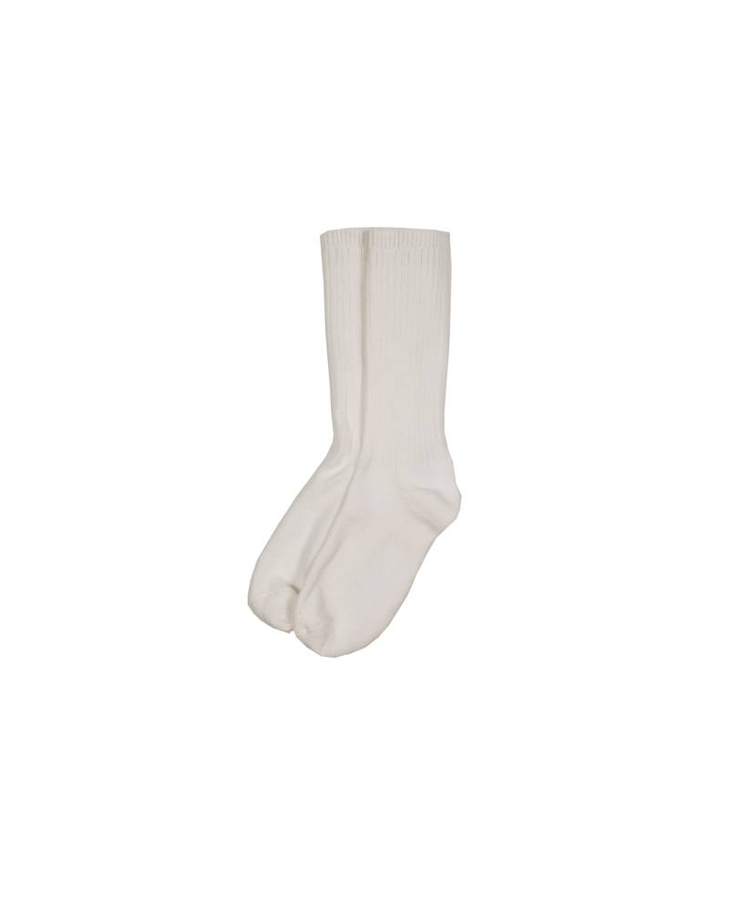 COTTON CREW SOCK WHITE F