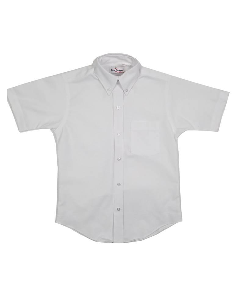 Elder Manufacturing Co. Inc. Boys/Mens SS White Oxfords 2