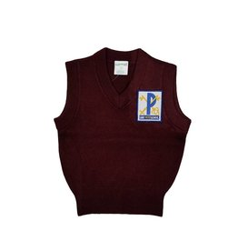 Elder Manufacturing Co. Inc. ST. PETER V/NECK SWEATER VEST MAROON