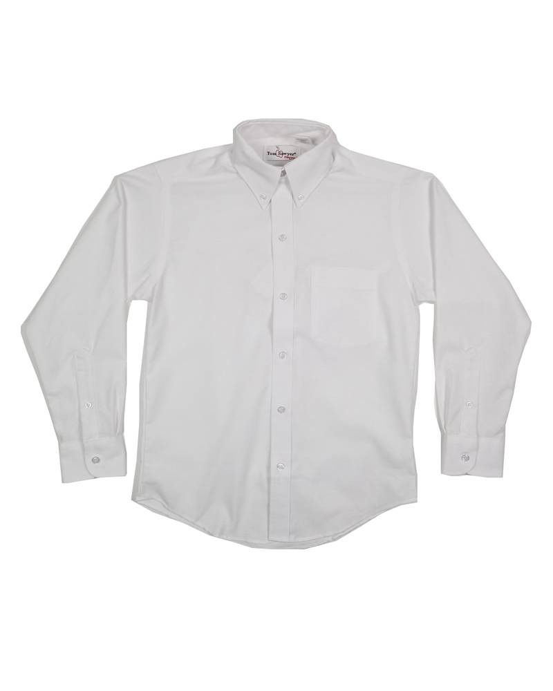 Elder Manufacturing Co. Inc. BOYS/MENS LS WHITE OXFORD SHIRT 2