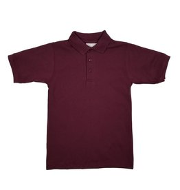 Elder Manufacturing Co. Inc. SHORT SLEEVE JERSEY KNIT SHIRT MAROON B