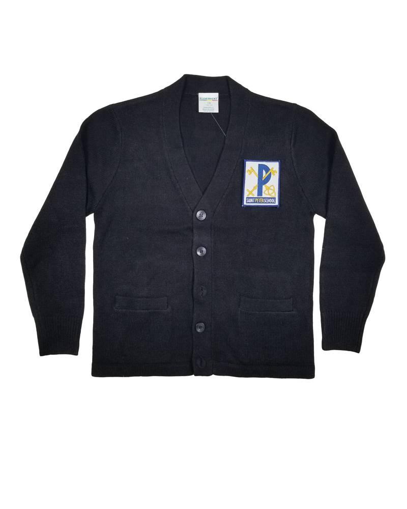 Elder Manufacturing Co. Inc. ST PETER V-NECK CARDIGAN W/ POCKET NAVY