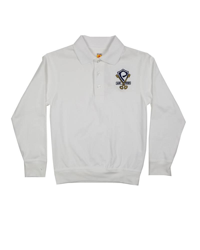 School Apparel, Inc. St. Peter's Long Sleeve Banded Bottom Polo