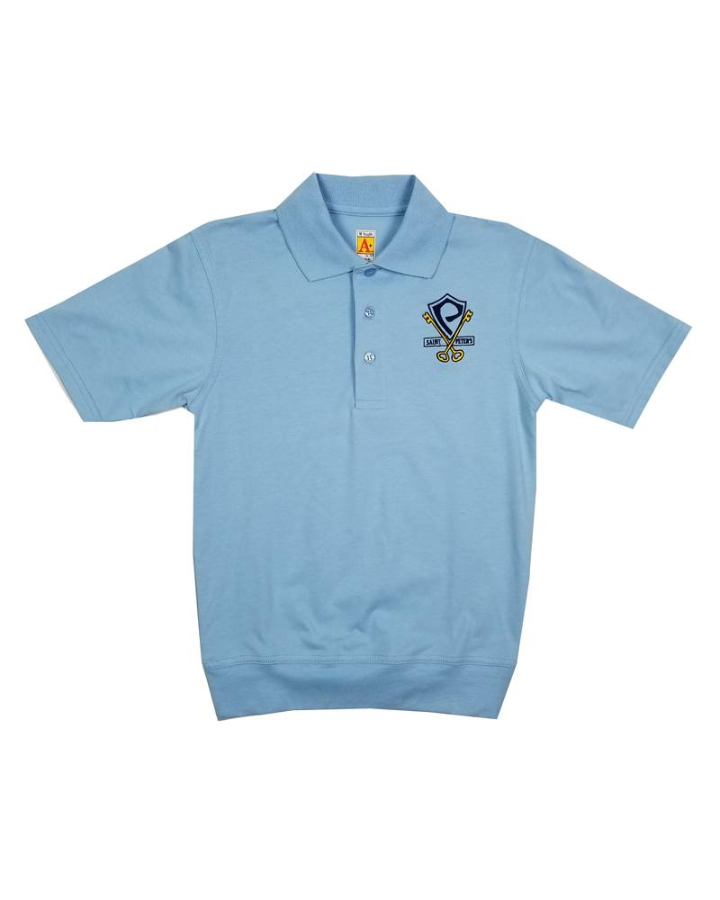 School Apparel, Inc. St. Peter's Short Sleeve Banded Bottom Polo