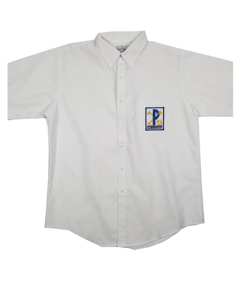 Elder Manufacturing Co. Inc. St Peter Boys/Mens SS White Oxfords