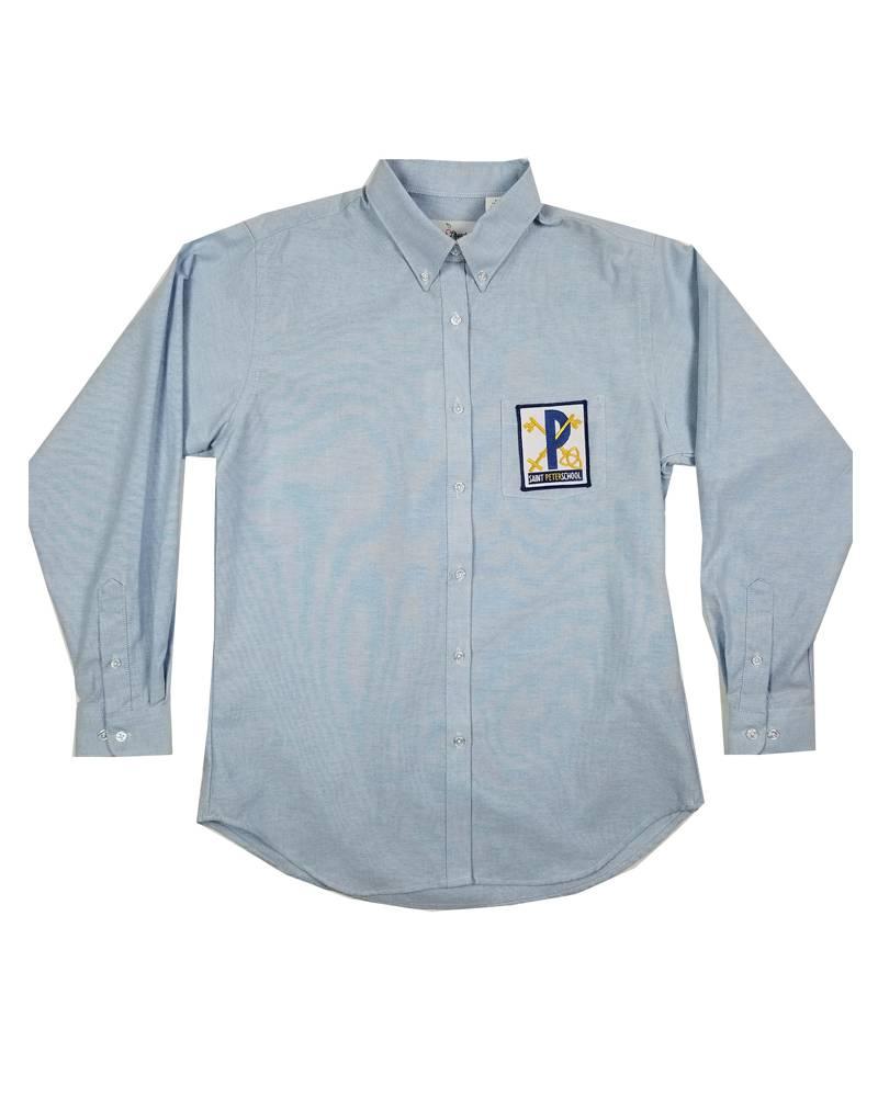 Elder Manufacturing Co. Inc. ST PETER GIRLS/LADIES LS LT BLUE OXFORD BLOUSE