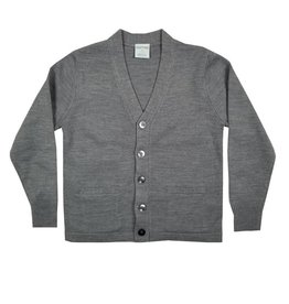 Elder Manufacturing Co. Inc. V-NECK CARDIGAN W/ POCKET GREY B