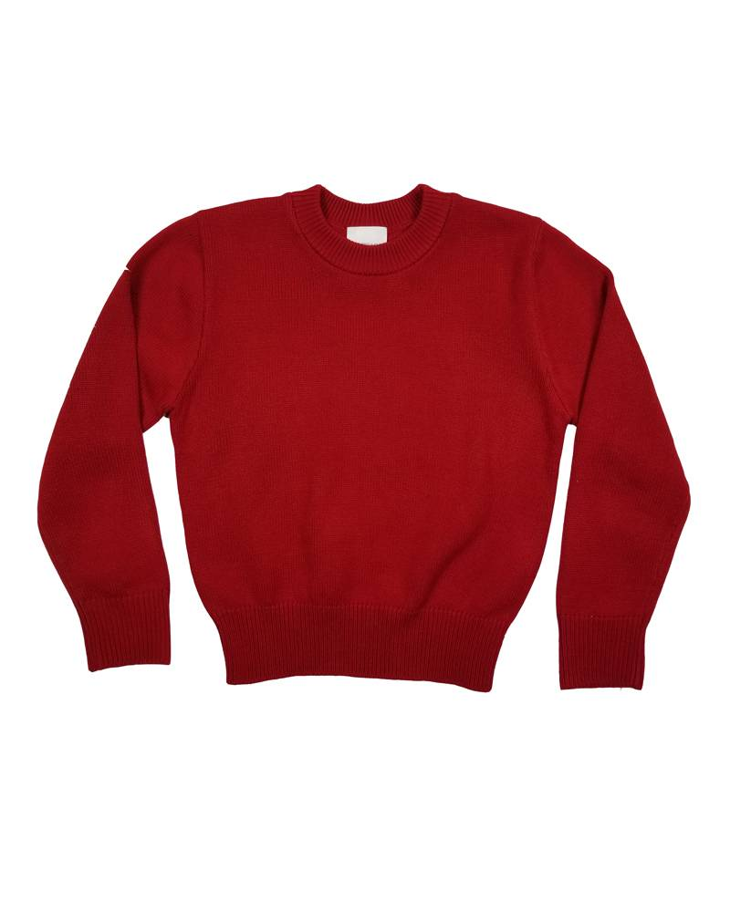 School Apparel, Inc. CREW NECK PULLOVER SWEATER RED B