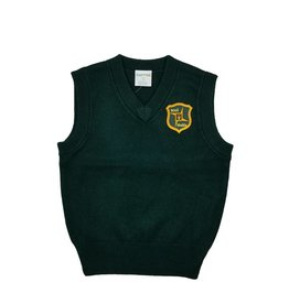 Elder Manufacturing Co. Inc. ST. BRIGID V/NECK SWEATER VEST GREEN