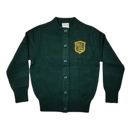 Elder Manufacturing Co. Inc. ST. BRIGID GIRLS CARDIGAN GREEN
