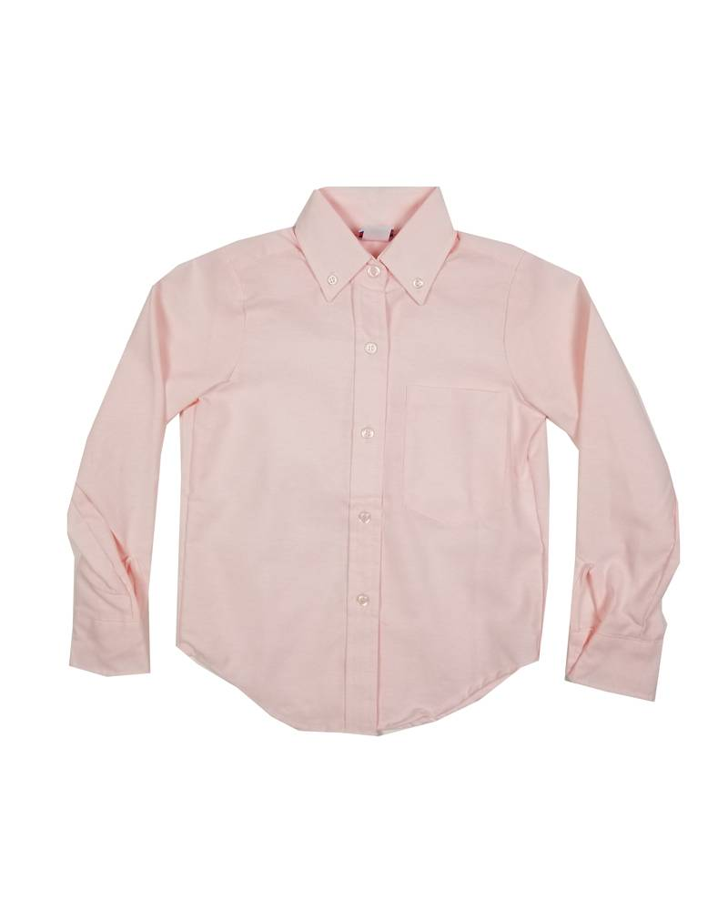 GIRLS/LADIES LS PINK OXFORD BLOUSE