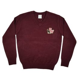 Elder Manufacturing Co. Inc. BISHOP WATTERSON V-NECK PULLOVER SWEATER