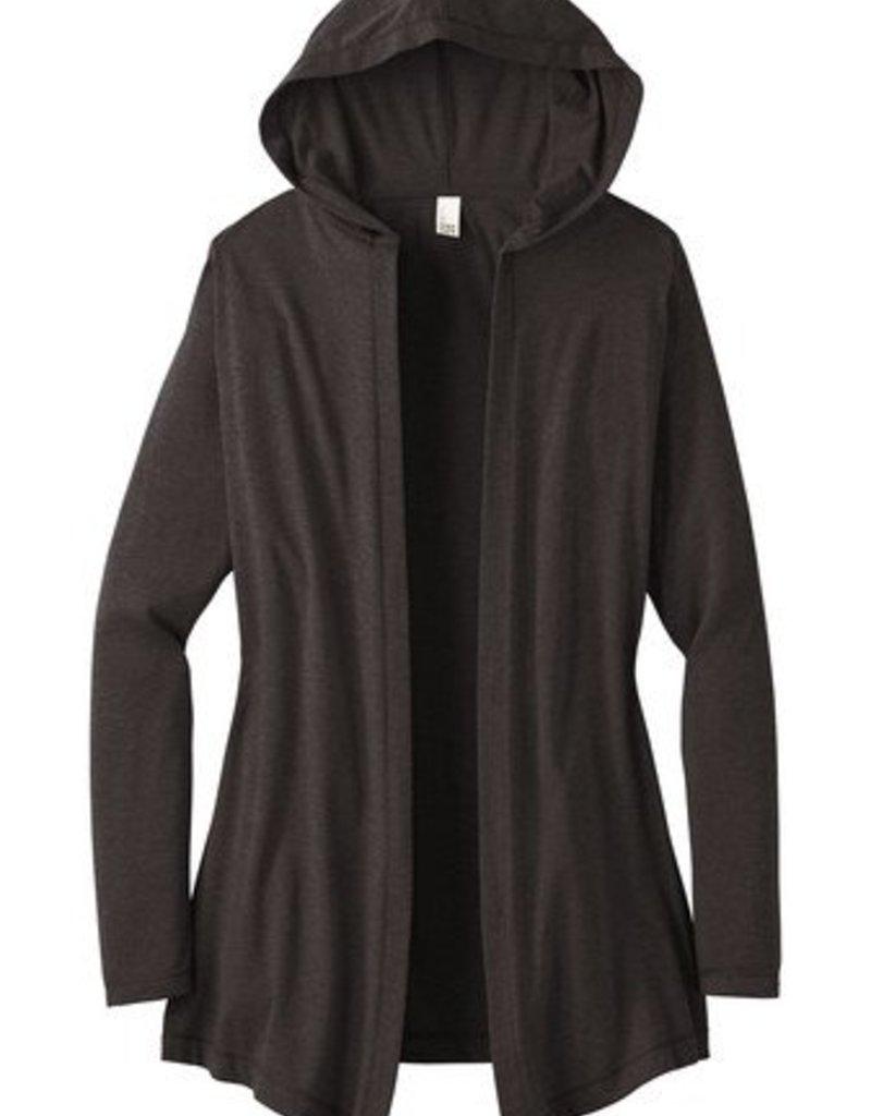 Grey Hooded Cardigan